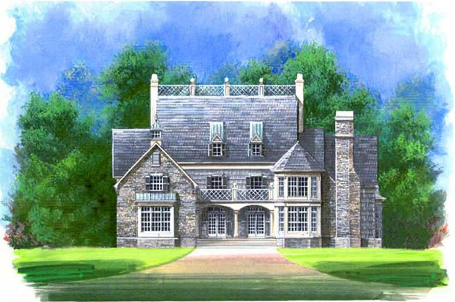 4-Bedroom, 3276 Sq Ft European House Plan - 106-1236 - Front Exterior