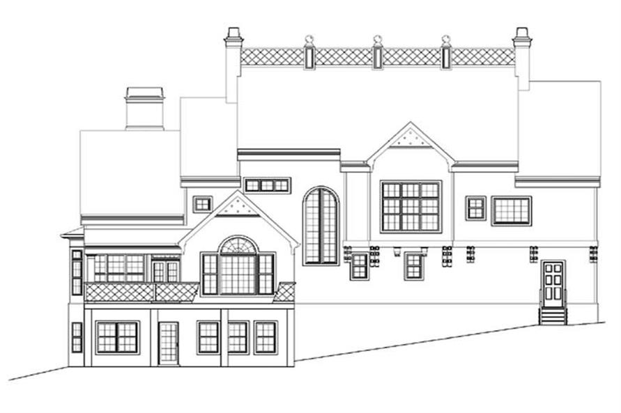 Home Plan Rear Elevation of this 4-Bedroom,3276 Sq Ft Plan -106-1236