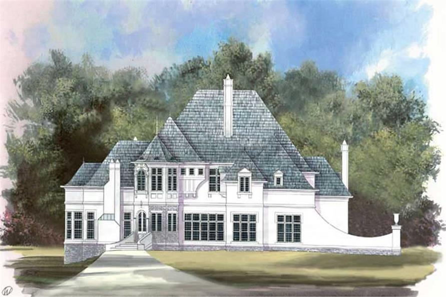 Home Plan Rendering of this 4-Bedroom,3966 Sq Ft Plan -106-1237