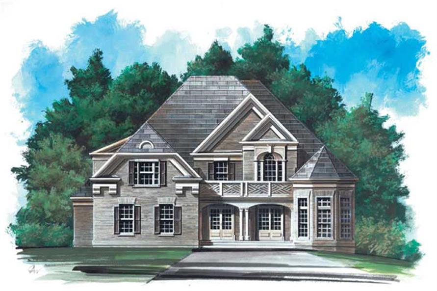 5-Bedroom, 3228 Sq Ft European House Plan - 106-1239 - Front Exterior