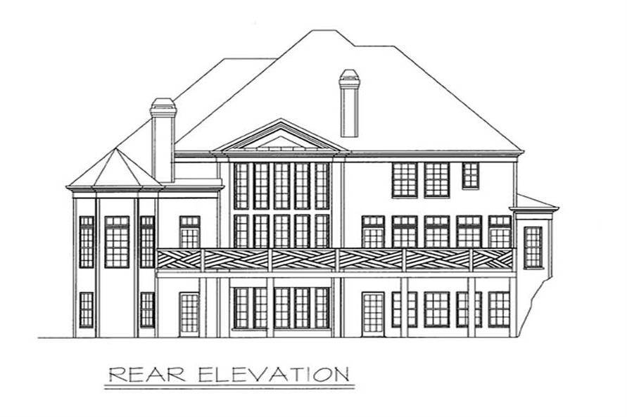 Home Plan Rear Elevation of this 5-Bedroom,3228 Sq Ft Plan -106-1239