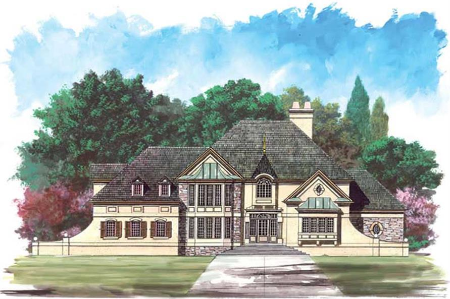 4-Bedroom, 3543 Sq Ft European Home Plan - 106-1240 - Main Exterior