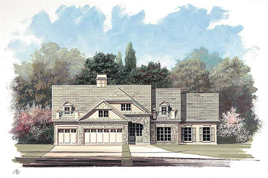 4-Bedroom, 2845 Sq Ft European Home Plan - 106-1242 - Main Exterior