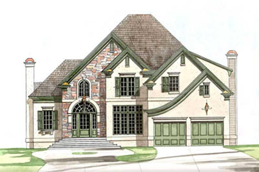 4-Bedroom, 2786 Sq Ft European Home Plan - 106-1245 - Main Exterior