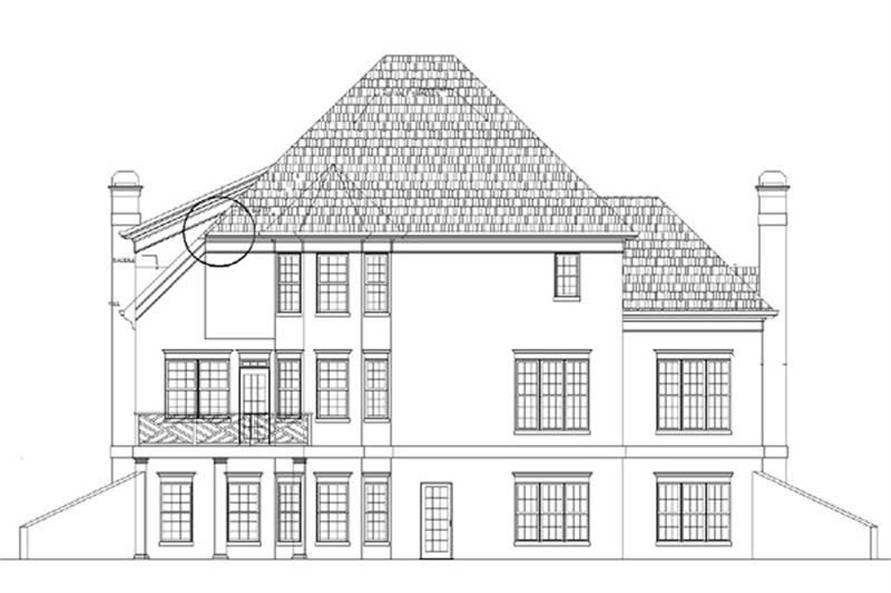 Home Plan Rear Elevation of this 4-Bedroom,2786 Sq Ft Plan -106-1245
