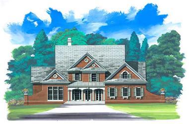4-Bedroom, 2773 Sq Ft European House Plan - 106-1246 - Front Exterior