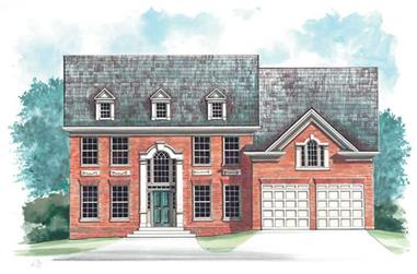 5-Bedroom, 2780 Sq Ft European House Plan - 106-1247 - Front Exterior