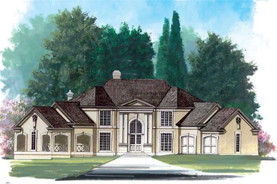 4-Bedroom, 3338 Sq Ft European Home Plan - 106-1248 - Main Exterior