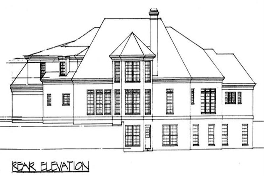 Home Plan Rear Elevation of this 4-Bedroom,3338 Sq Ft Plan -106-1248