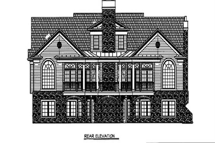 Home Plan Rear Elevation of this 3-Bedroom,2834 Sq Ft Plan -106-1249
