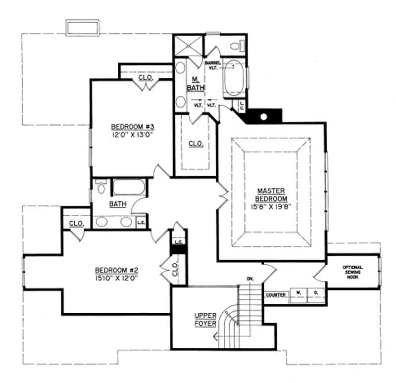 European home with 3 bedrooms 2729 sq ft house plan for 1250 sq ft house plans