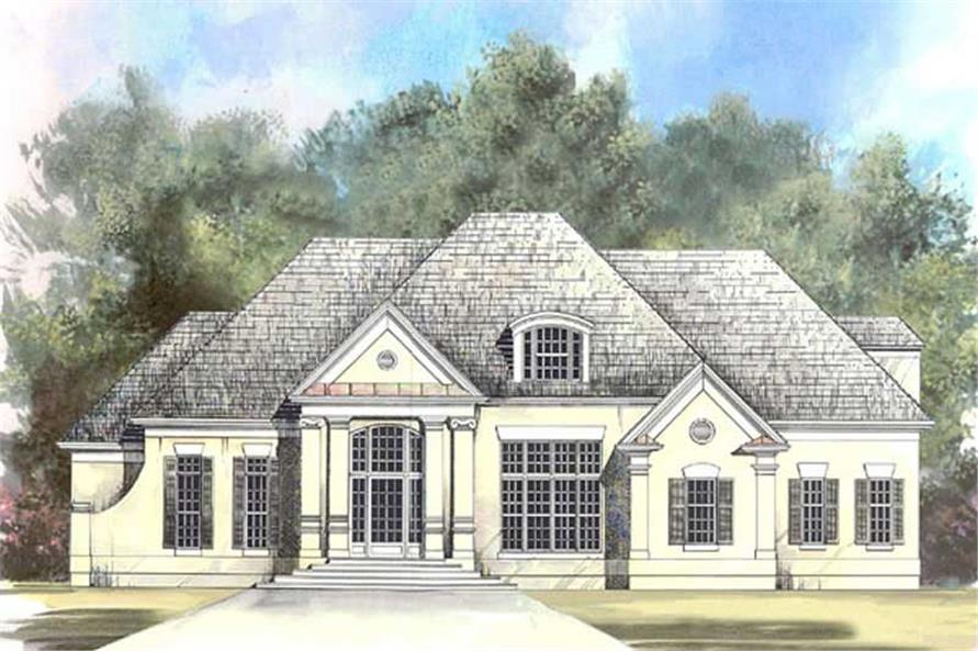 4-Bedroom, 2832 Sq Ft European Home Plan - 106-1257 - Main Exterior