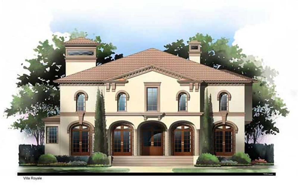Front elevation of Mediterranean home (ThePlanCollection: House Plan #106-1258)