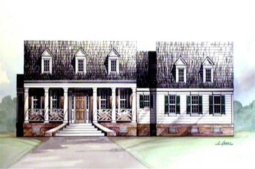 3-Bedroom, 1816 Sq Ft European Home Plan - 106-1259 - Main Exterior