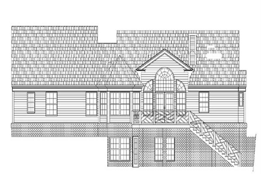 Home Plan Rear Elevation of this 3-Bedroom,1816 Sq Ft Plan -106-1259