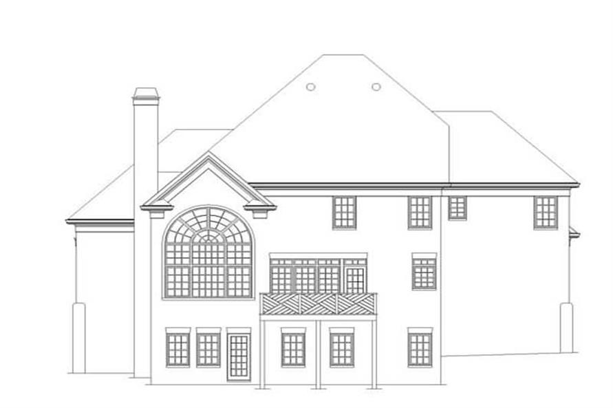 Home Plan Rear Elevation of this 4-Bedroom,2520 Sq Ft Plan -106-1260