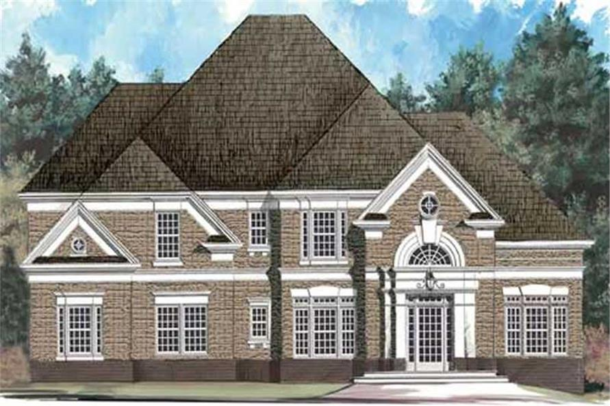 4-Bedroom, 2520 Sq Ft European House Plan - 106-1260 - Front Exterior