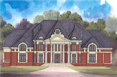 4-Bedroom, 8100 Sq Ft Colonial Home Plan - 106-1262 - Main Exterior