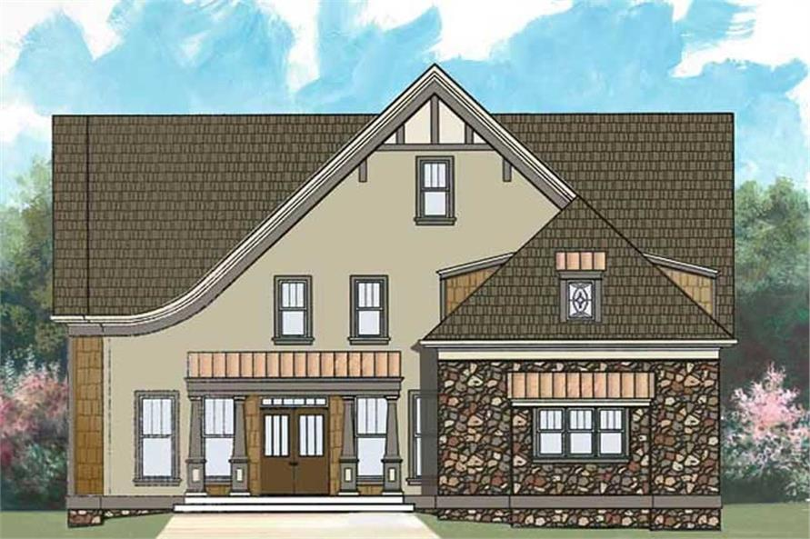 4-Bedroom, 2505 Sq Ft European House Plan - 106-1263 - Front Exterior