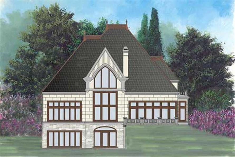 Home Plan Rear Elevation of this 4-Bedroom,2979 Sq Ft Plan -106-1264