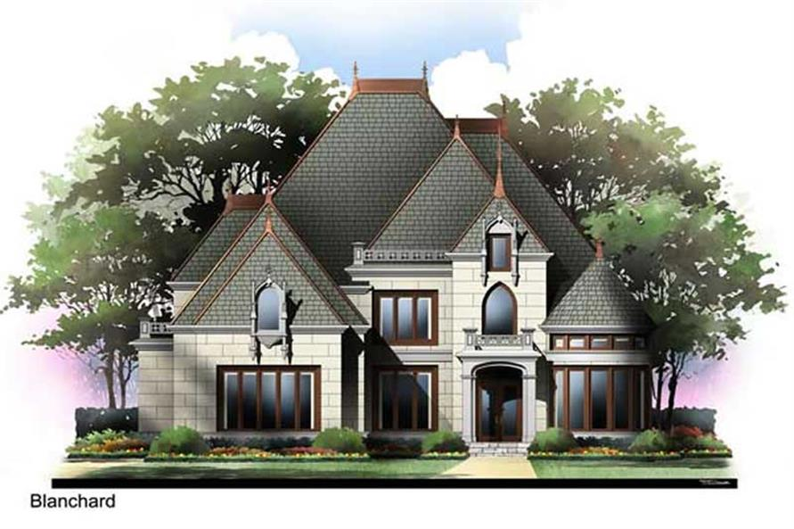 4-Bedroom, 2979 Sq Ft European Home Plan - 106-1264 - Main Exterior