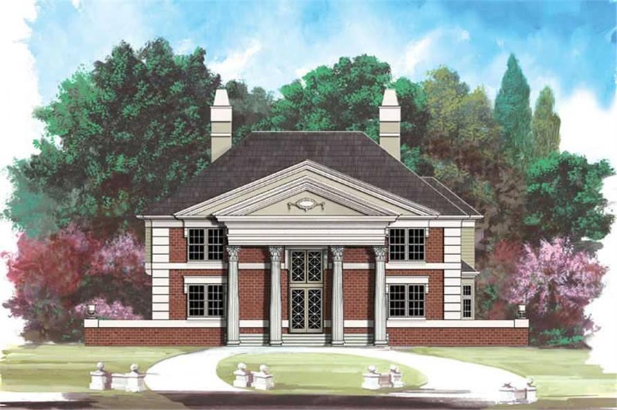 4-Bedroom, 2750 Sq Ft European Home Plan - 106-1265 - Main Exterior