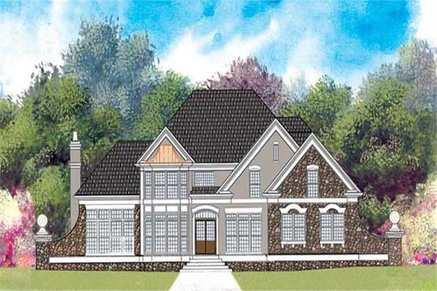 4-Bedroom, 2261 Sq Ft Traditional House Plan - 106-1266 - Front Exterior