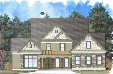 4-Bedroom, 2773 Sq Ft Rustic Home Plan - 106-1267 - Main Exterior