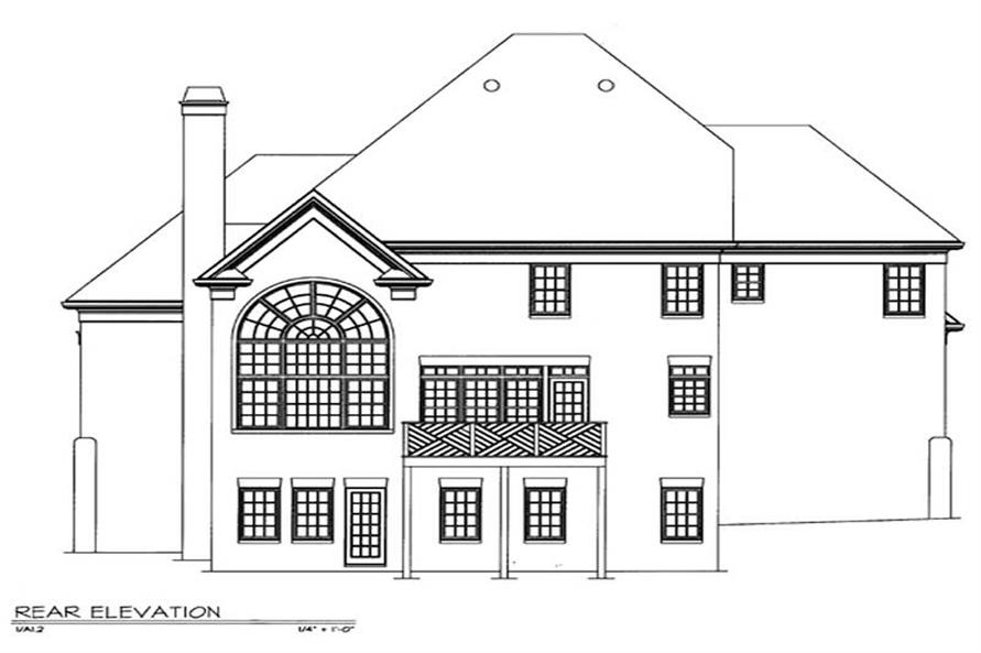 Home Plan Rear Elevation of this 4-Bedroom,2520 Sq Ft Plan -106-1268