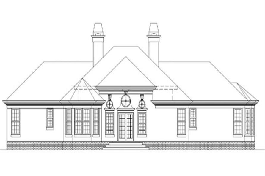 Home Plan Rear Elevation of this 4-Bedroom,2588 Sq Ft Plan -106-1270