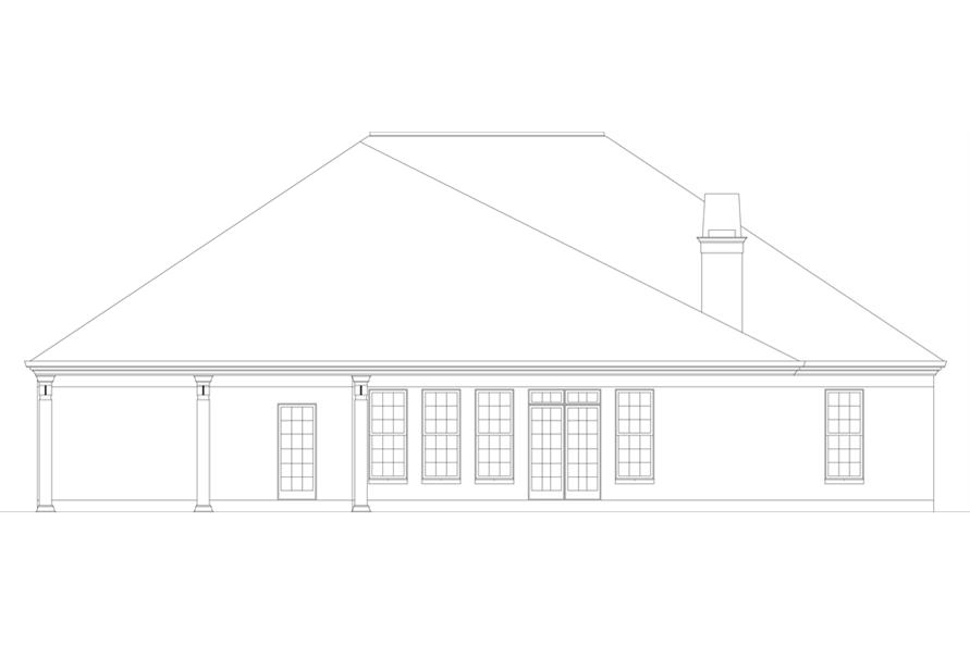 Home Plan Rear Elevation of this 3-Bedroom,2365 Sq Ft Plan -106-1271