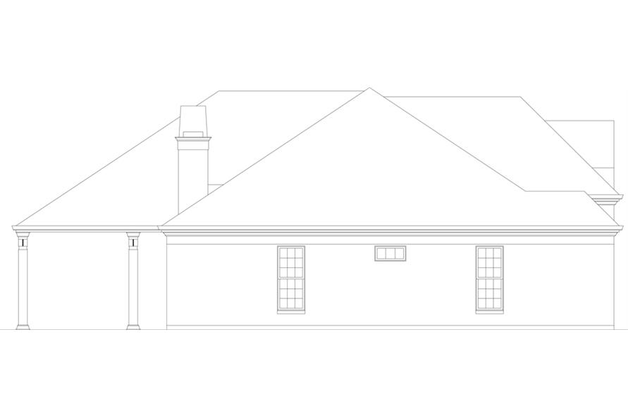 Home Plan Left Elevation of this 3-Bedroom,2365 Sq Ft Plan -106-1271