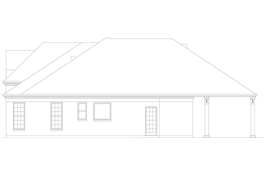 Home Plan Right Elevation of this 3-Bedroom,2365 Sq Ft Plan -106-1271
