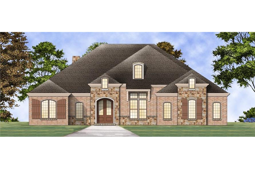 106-1271: Home Plan Rendering-Front Door