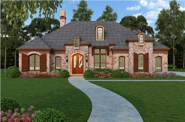 3-Bedroom, 2365 Sq Ft Southern House Plan - 106-1271 - Front Exterior