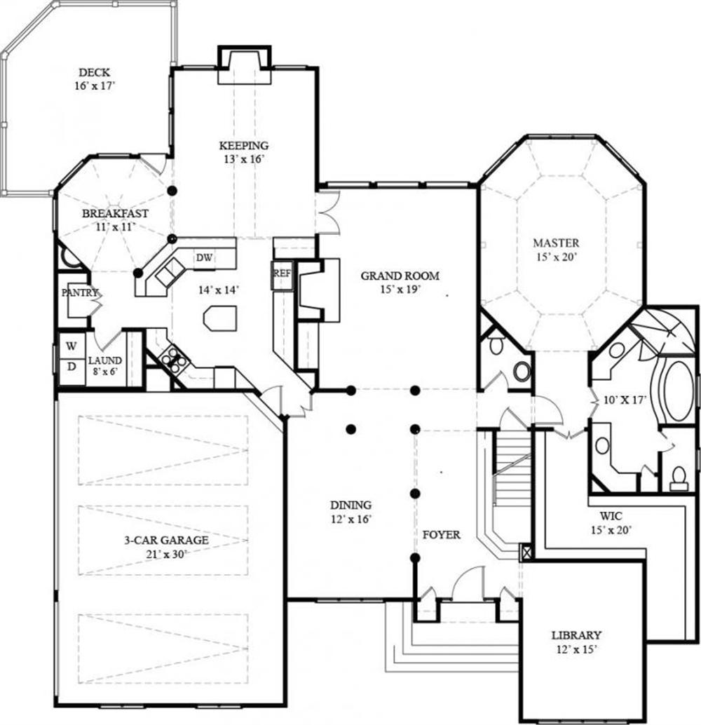 106-1272 house plan first floor