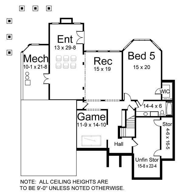 106-1272 house plan basement