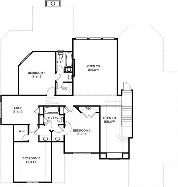 106-1272 house plan second floor