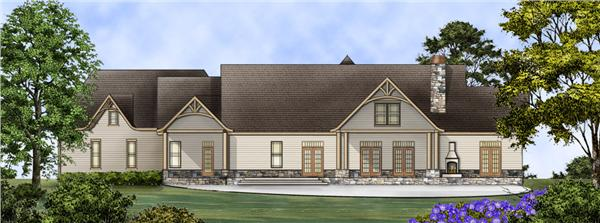 106-1274 house plan rear
