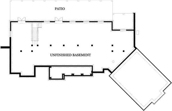 106-1274: Floor Plan Daylight Basement Option - Lower Level