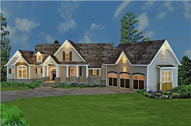 Colorrendering of Country-style House Plan #106-1274