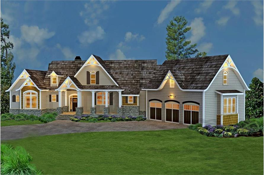 Country craftsman home with photos 3 bedrooms plan for 3 bedroom country home plans