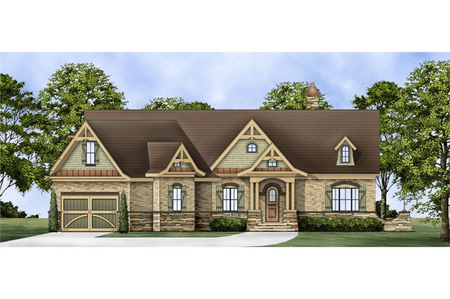 Home Plan Rendering of this 3-Bedroom,2404 Sq Ft Plan -106-1275