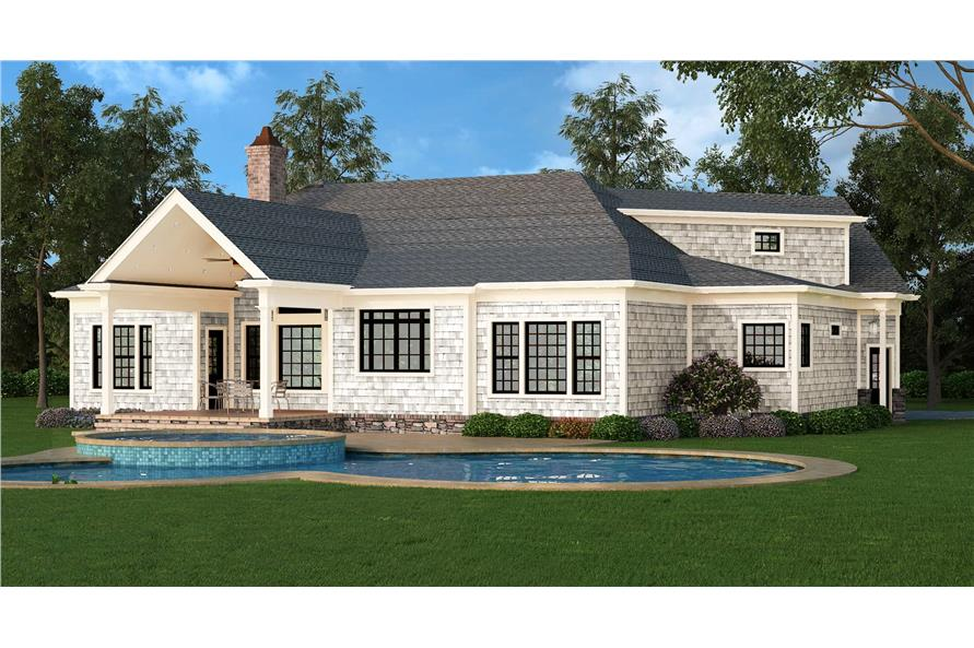 106-1276: Home Plan Rendering-Rear View