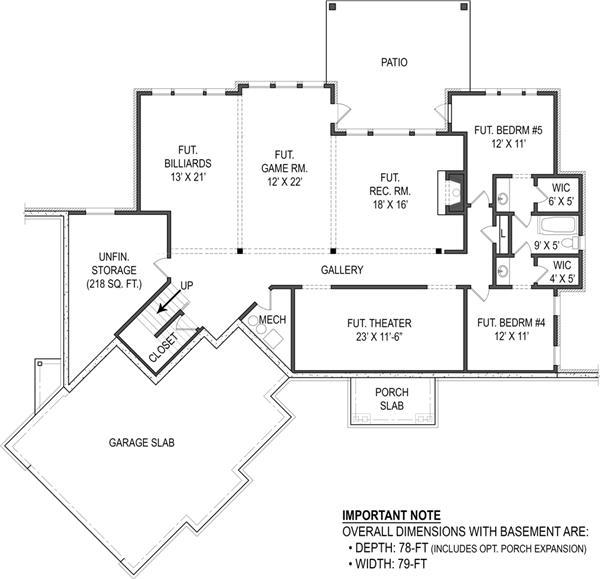 106-1276: Floor Plan Basement
