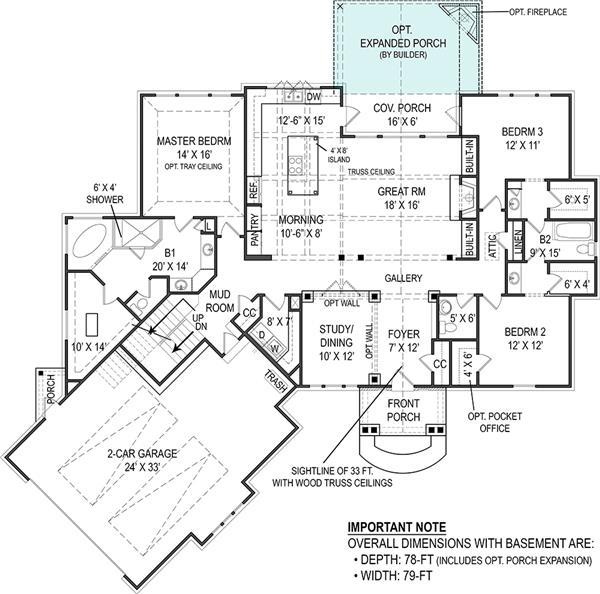 106-1276: Floor Plan Main Level
