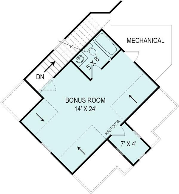 106-1276: Floor Plan Upper Level