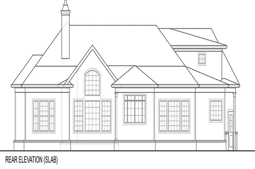 Home Plan Rear Elevation of this 3-Bedroom,2344 Sq Ft Plan -106-1276