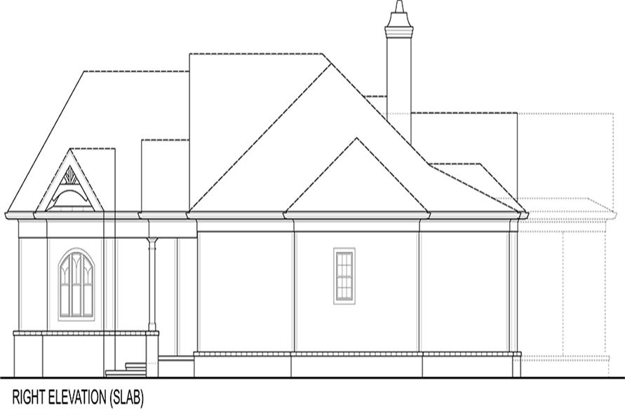 106-1276: Home Plan Right Elevation