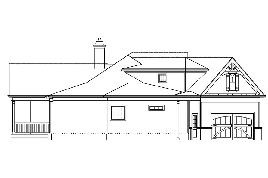 106-1276: Home Plan Left Elevation